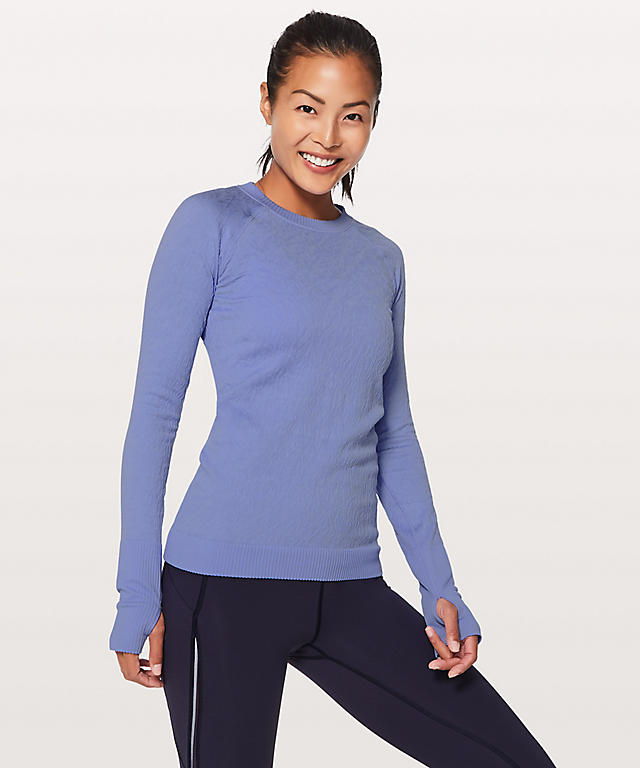 Blue long sleeve lulu